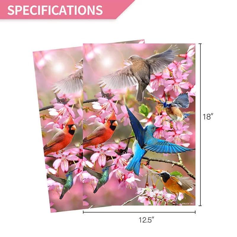 Flower bird garden flag specification