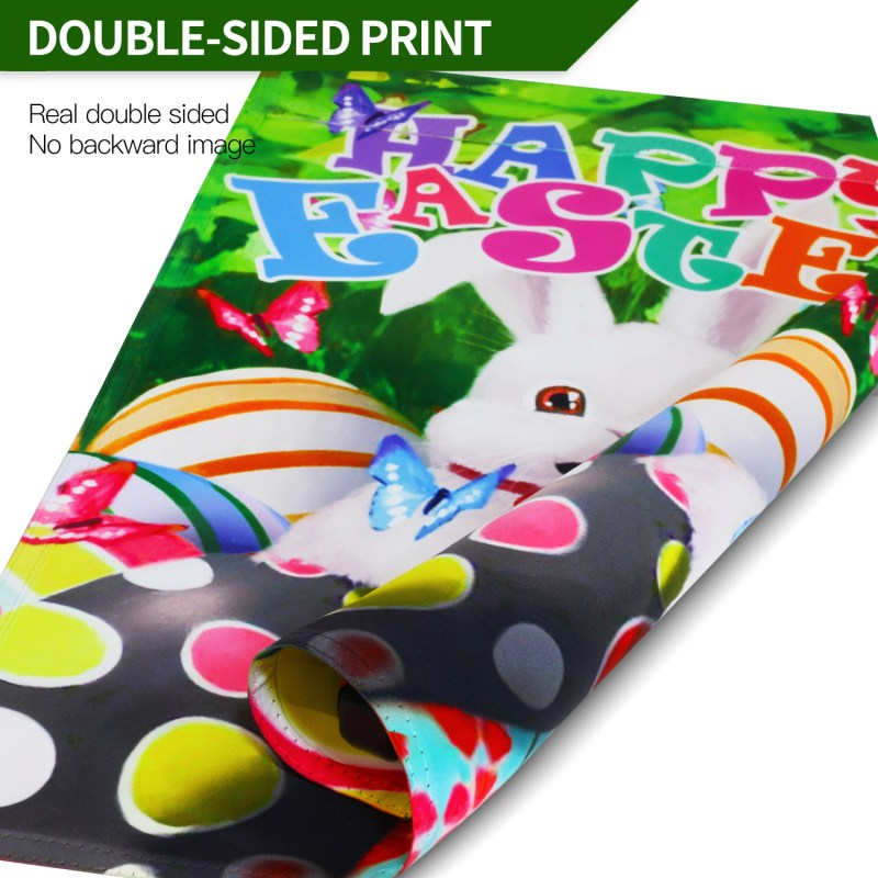 easter bunny flag print