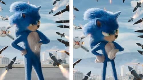 Sonic pelicula fan comparacion