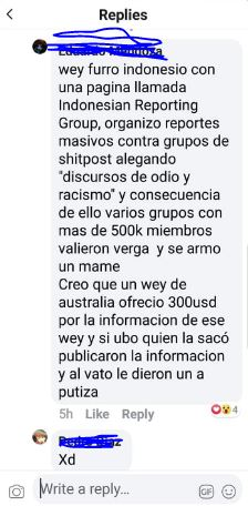mensaje reporte
