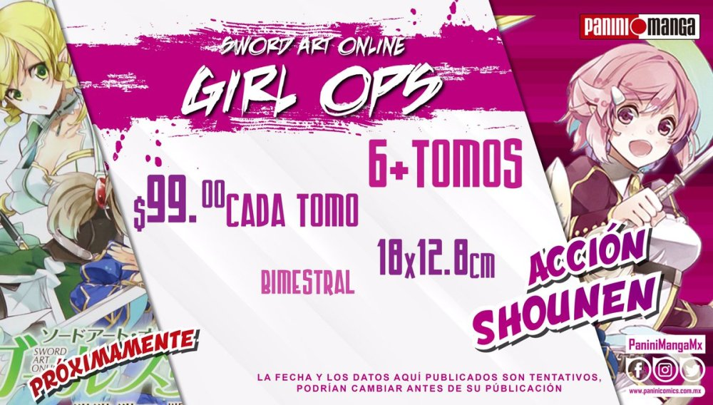 El manga Sword Art Online Ops Girls se publicará a México