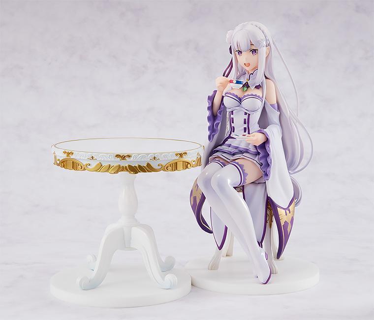 Únete a la fiesta de té con la nueva figura de Emilia del anime Re:Zero