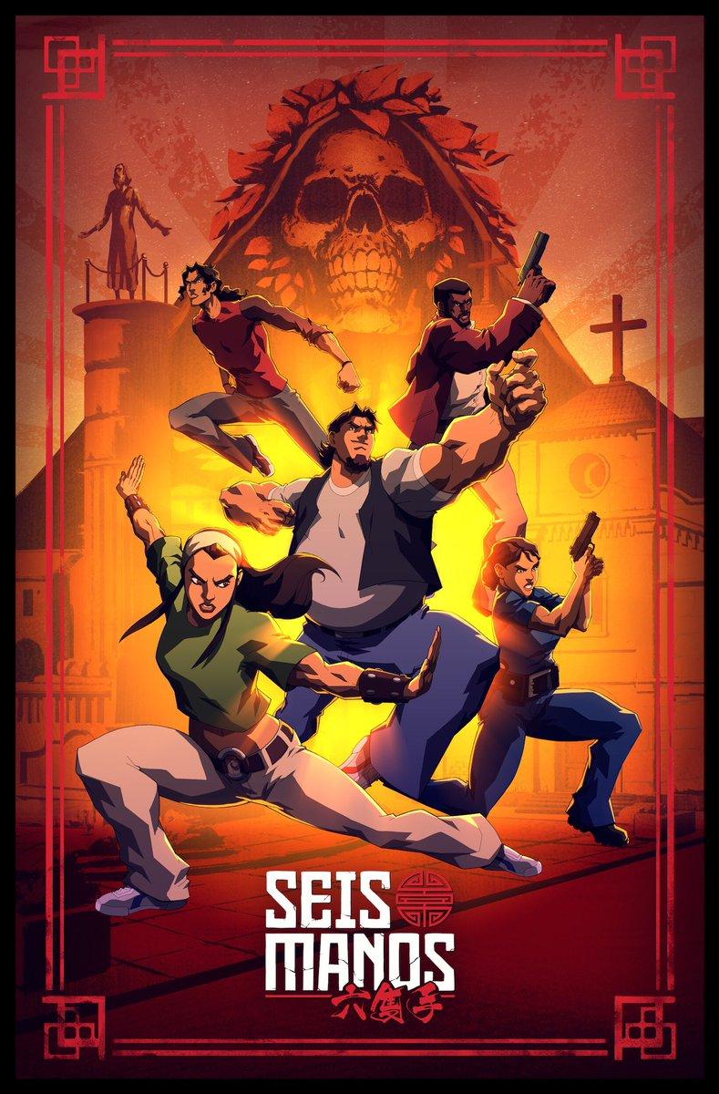 Seis Manos, el anime original de Netflix inspirado en México estrena un póster exclusivo