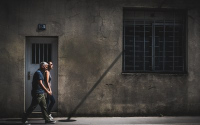 Contrasty street photography in color