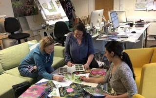Ann-Marie Powell design team working on planting plans in the studio