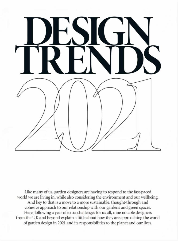 Gardens Illustrated Design Trends 2021 featuring Designer Ann-Marie Powell