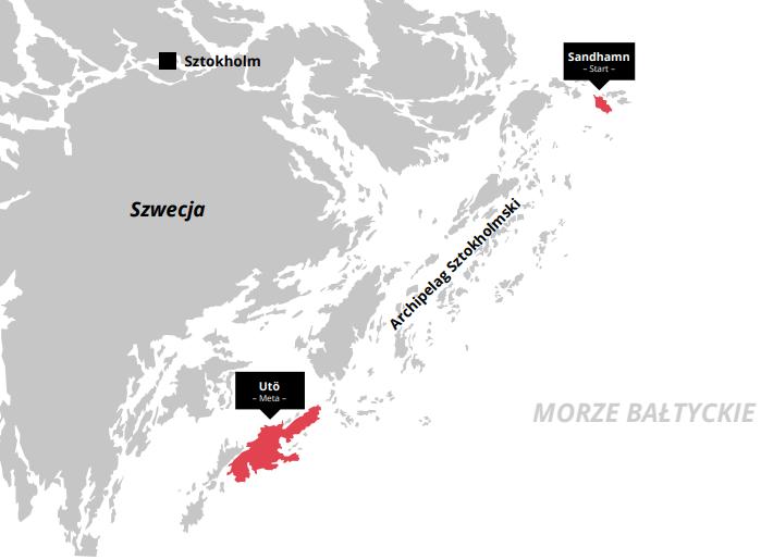 mapa swimrun szwedzkie wysepki