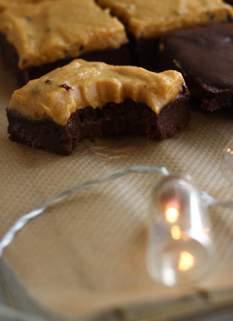 Kürbis Brownies zuckerfrei, vegan, glutenfrei