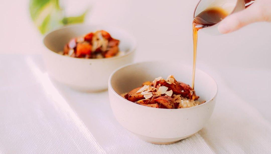 Hirse Porridge Rezept vegan, glutenfrei