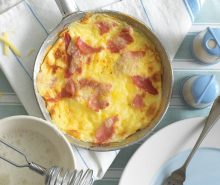 Ham & Cheese Soufflé Omelette <br><br>