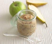 Porridge with Apple, Pear & Raisins