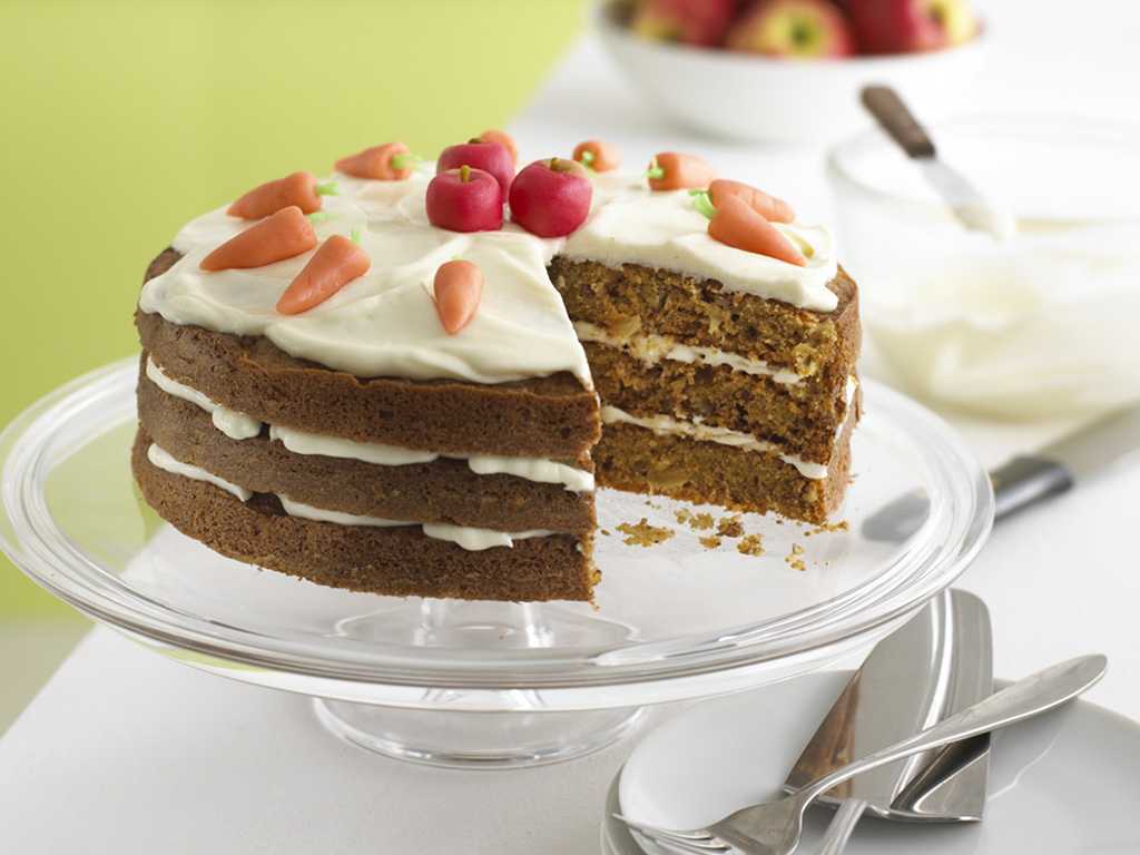 Apple And Carrot Cake Recipe With Cream Cheese Icing Annabel Karmel