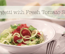 Annabel's Courgetti with Tomato Sauce