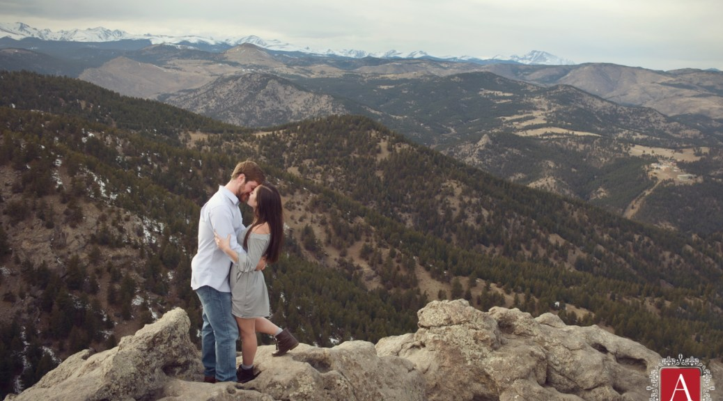 Standing on Rocks, Engagement Session at the Lost Gulch Lookout in Boulder, CO