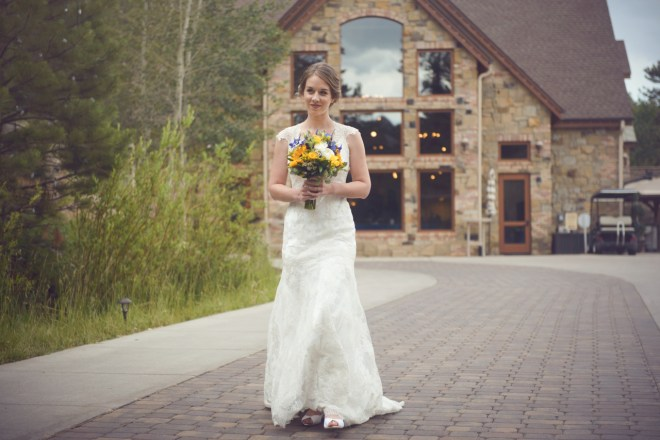 Bride's first look