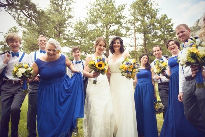 offbeat bridal party pictures