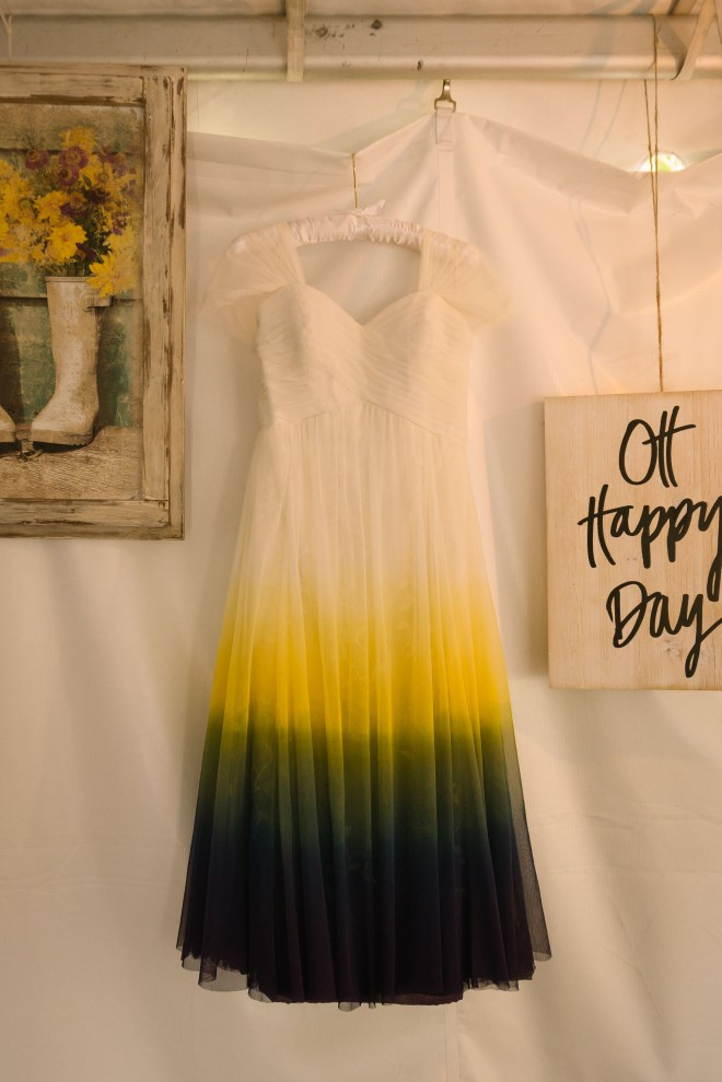 Bridal Dress, hand dyed Stone Mountain Lodge