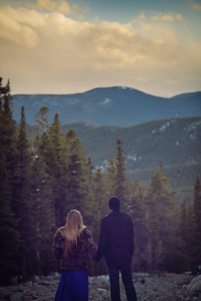 Couple at St Mary's Glacier, CO