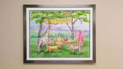 One framed Rhonda Leonard Painting hanging on a wall