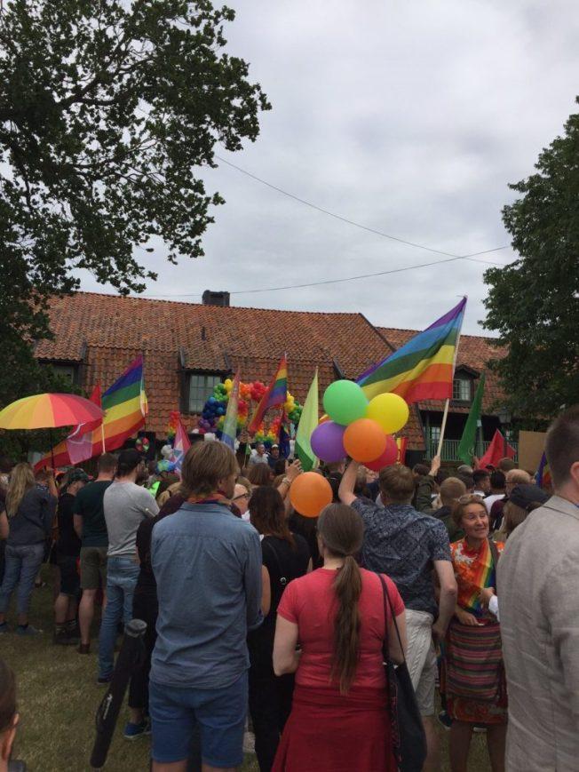 Foto från Mångfaldsparaden i Almedalen. jag iklädd min t-shirt #jagärhär