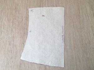 cartamodello del corsetto centro davanti