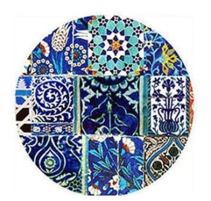 Dessert plates box of 4 , Blue TIle