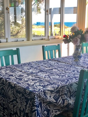 Tablecloth Canvas Spice Island Indigo Blue