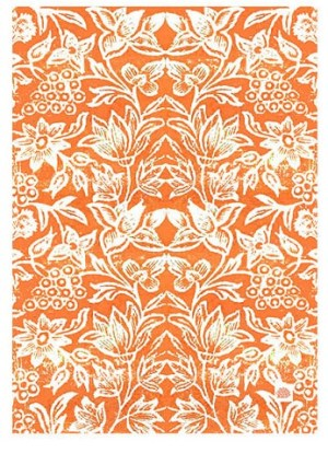Cotton Tea Towels Spice Island Orange