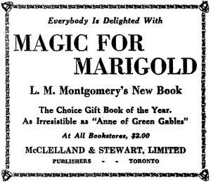 Pubblicità di Magic for Marigold, pubblicata in The Globe (Toronto, ON), 30 November 1929