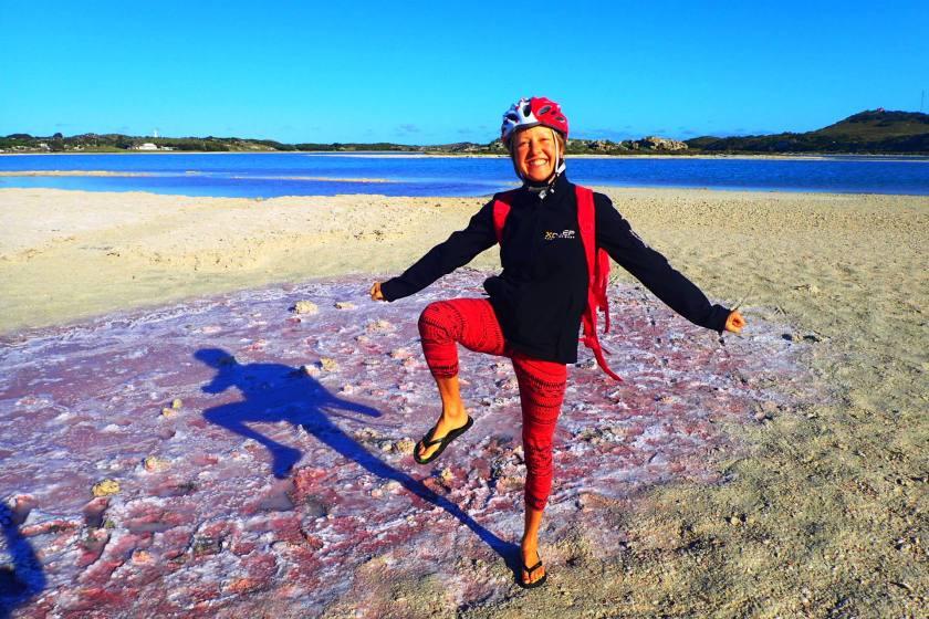 Pink Salt Lakes, Rottnest Island, Western Australia
