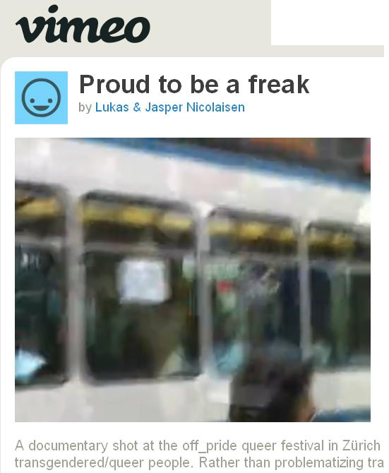 proud to be a freak