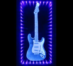 Fender Stratocaster Guitar Light Installation by Anna Jaxe