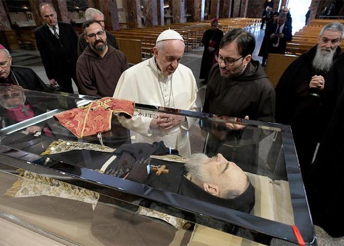 La gioia dell'incontro con Padre Pio