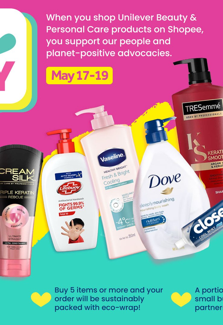 Unilever's Yes to Positive Beauty Sale on May 17-19 in Shopee!