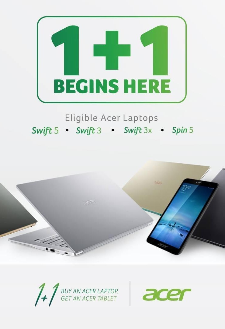 #AcerOnePlusJuan promo gives a free tablet