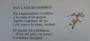 """Fragment del """"llibre de vòlics, laquidambres i altres espècies"""""""
