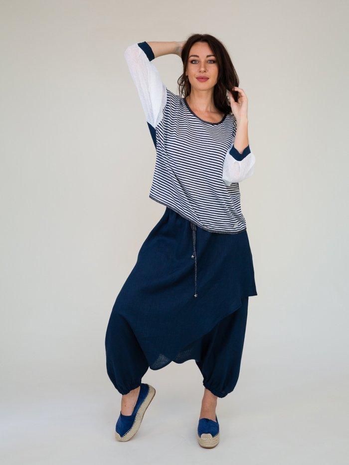 maglia blusa in lino made in Italy
