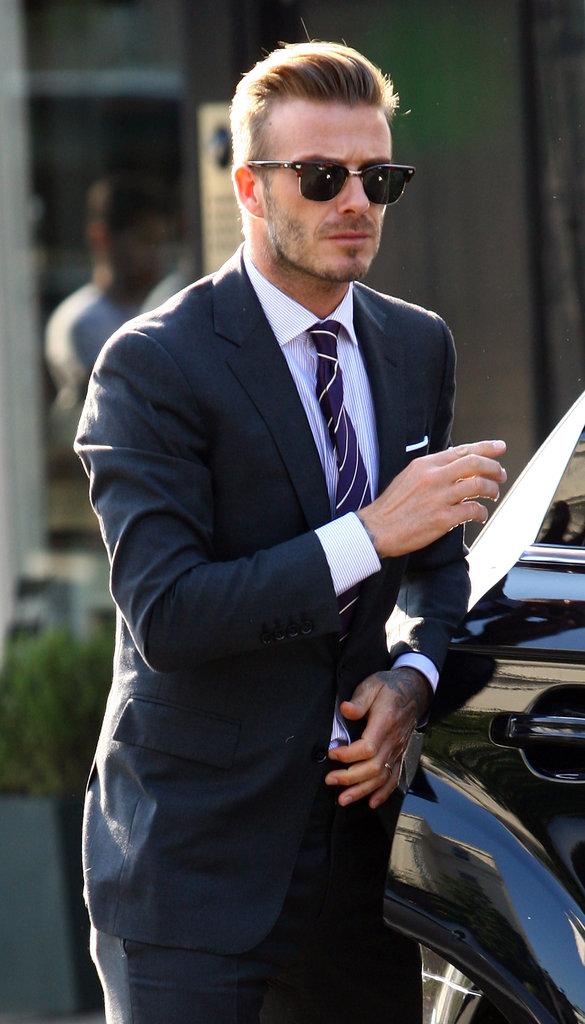 David-Beckham-wore-sunglasses-suit