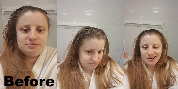 shampooing my long hair