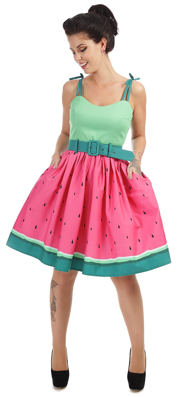 Collectif watermelon swing dress