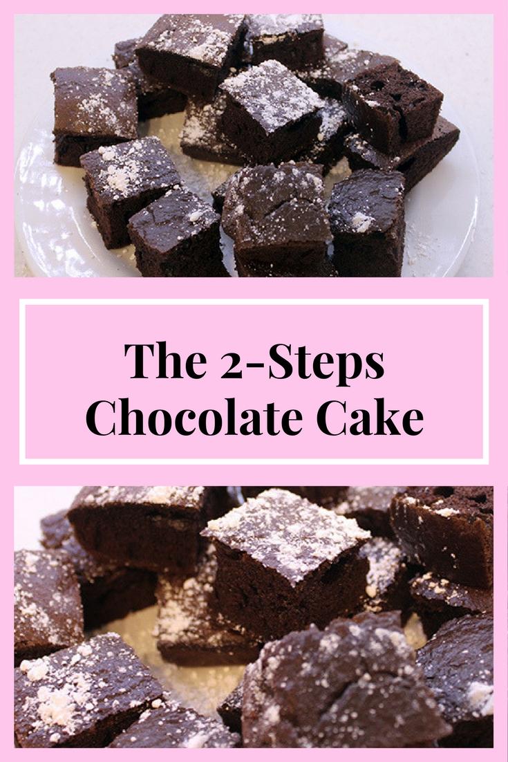 the 2-steps chocolate cake