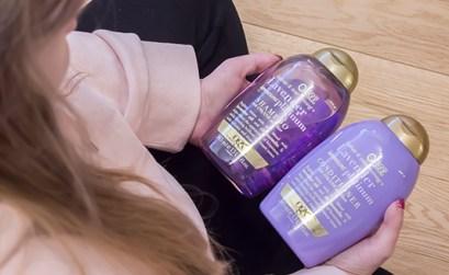 OGX Lavender Platinum shampoo & conditioner