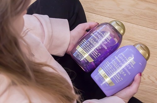 OGX Lavender Platinum shampoo & conditioner
