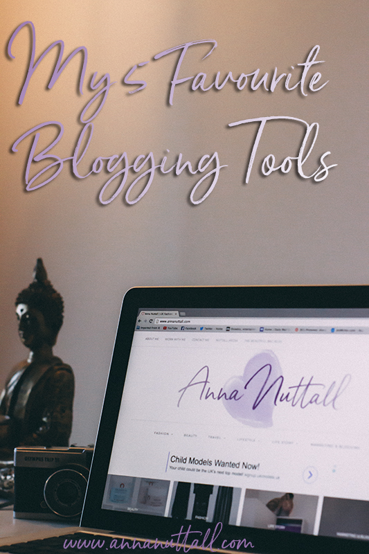 My 5 Favourite Blogging Tools