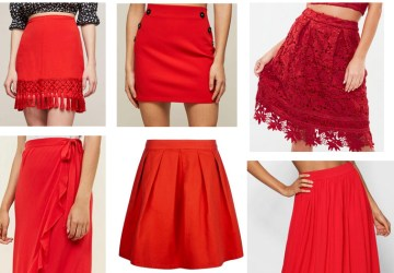 summer red skirts