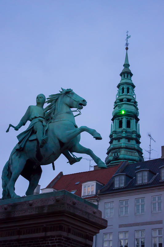 nighttime walk around Copenhagen