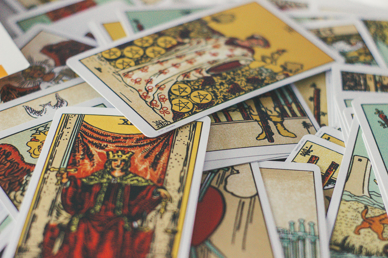 using tarot cards