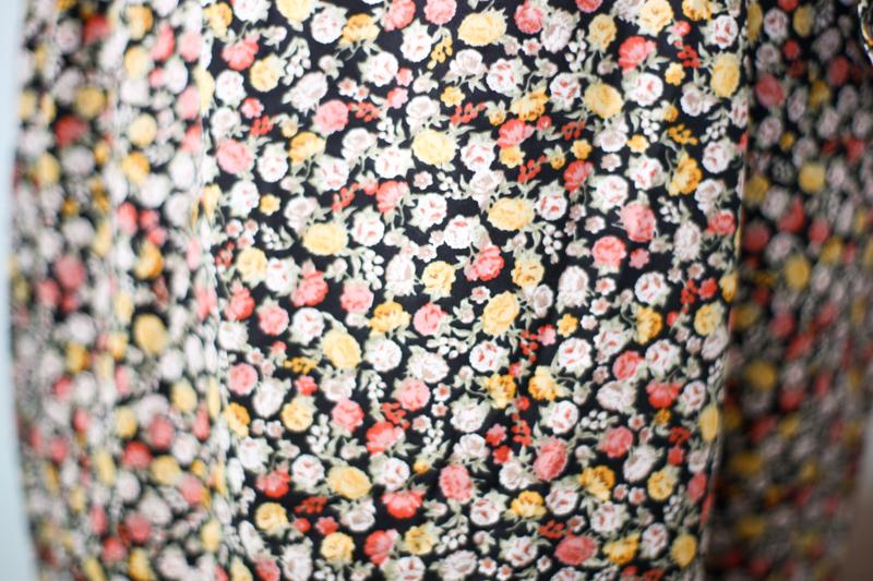 New Look Black Floral Tie Waist Mini Dress
