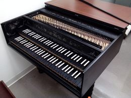 One of the harpsichords at Princeton University