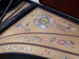Inside the harpsichord